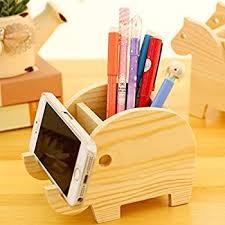 wooden pencil holder plans amazon com elephant design wooden desk pen holder office products