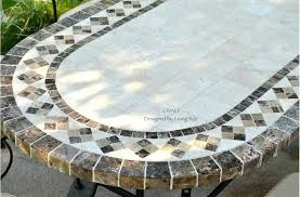 Mosaic Patio Furniture 78 Outdoor Patio Dining Table Italian Mosaic Stone Marble Tuscany