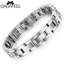 titanium magnetic bracelet black images Buy gagafeel trendy men titanium steel magnetic jpg