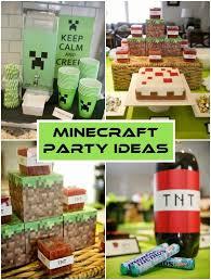 minecraft party minecraft birthday party ideas diy inspired