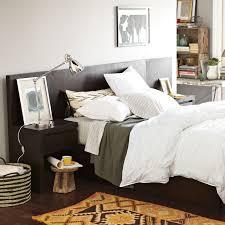 Upholstered Headboard Storage Bed by Storage Bed Headboard Chocolate West Elm