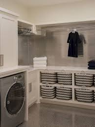 simple and clean modern laundry room that fit into contemporary
