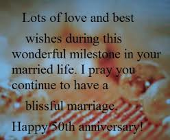 Wedding Day Wishes For Card Happy 50th Year Wedding Anniversary Wishes And Quotes What To