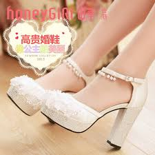 wedding shoes ankle hg white rhinestone lace flower beeds ankle closed toe
