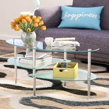 Glass Oval Coffee Table Oval Coffee Tables You Ll Wayfair