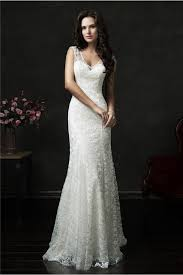 mermaid v neck sheer back vintage lace wedding dress with buttons