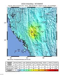 Usgs Real Time Earthquake Map Earthquake Of 6 8 Magnitude Strikes Central Myanmar Daily Mail