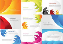 color business cards templates free vector in encapsulated