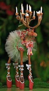 Dancing Reindeer Christmas Decorations by Ballerina Reindeer Christmas Decoration Dance Illustrations