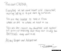 beyonce u0027s obama letter singer expresses support for the president