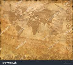 Ancient Map Ancient Map World Torn Scorched Edges Stock Illustration 13288540