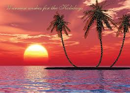 tropical sunset beach holiday card an inviting event holiday