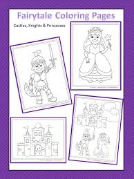 castles knights princesses free coloring pages lori