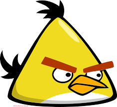 angry bird yellow bird colouring pages for angry bird coloring