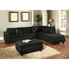 Sectional Sofa Black Venetian Worldwide Dallin Black Microfiber Sectional Mfs0005 R