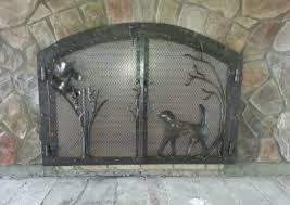 Fireplace Chain Screens - fireplace joe brown artist blacksmith