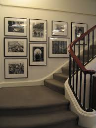 Stairway Wall Ideas by I Like This Stairway Gallery Wall Black And White Inspiring