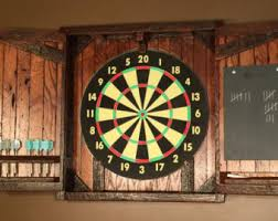 Dart Board Cabinet Plans Natural Rustic Dartboard Cabinet Reclaimed Barn Wood Home