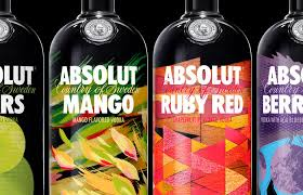 absolut vodka design absolut vodka revs flavor range the dieline packaging
