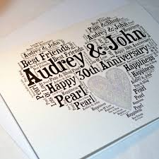 30th wedding anniversary gift ideas personalised 30th wedding anniversary sparkle card by sew
