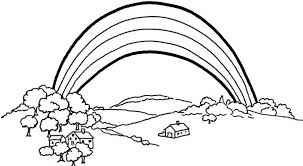Coloring Page Of A Rainbow printable rainbow coloring pages for