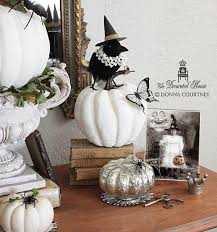 pumpkin black and white pumpkin the decorated house halloween decorating black and white