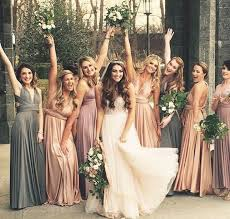 wedding bridesmaid dresses woodsy bohemian wedding bridesmaids soft neutral colored