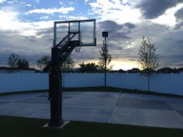 backyard basketball court lighting home outdoor decoration
