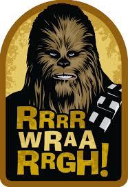 star wars chewbacca wookiee wishes birthday card greeting
