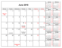 printable calendar with holidays 2018 june 2018 printable calendar with holidays