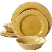 yellow dishes sets wayfair