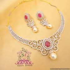 beautiful necklace online images Necklaces beautiful american diamond ruby necklace online jpg
