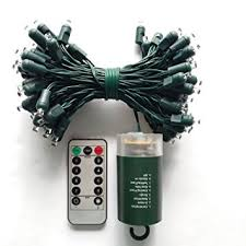 battery operated outdoor string lights with timer 47953