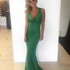alexander mcqueen emerald green cowl neck gown the volte