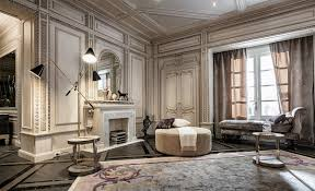 neoclassical homes and deco features in two luxurious interiors