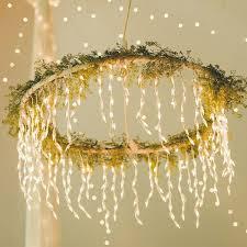 Home Decor With Lights Best 25 Hula Hoop Chandelier Ideas On Pinterest Hula Hoop Light