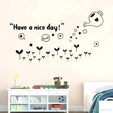 articles with wall art stickers quotes bedroom tag wall art have a nice day wall quote decor sticker black flowers sweet home lettering art mural bedroom