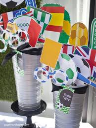 Soccer Theme Party Decorations Soccer Birthday Party Goooaaal Paper And Cake Paper And Cake