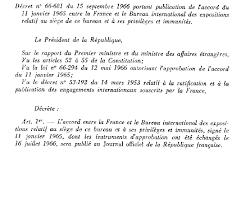 bureau international des expositions n 1428 rapport de m jean marc nesme sur le projet de loi