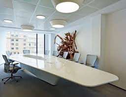 Grey Meeting Table Beautiful White Conference Table Vessel Shape Unique Design Grey