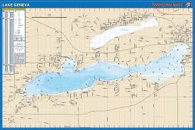geneva map fishing map lake walworth co