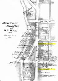 Berea Ohio Map by Edward Christian The Lowe Family Tree