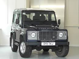 land rover defender black used baltic blue met with black 1 2 leather land rover defender
