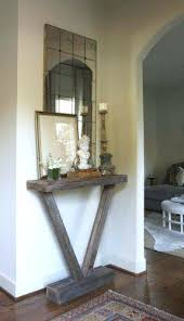 Hallway Table And Mirror Make This Small Skinny Table For End Of Long Hallway Prop Hall