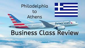Phl Airport Map American Airlines Business Class Review A330 Phl To Ath Youtube