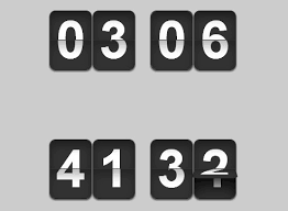 flip clock style jquery countdown count up timer plugin