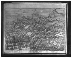 Map Of San Antonio Tx Birds Eye Map Of 1873 San Antonio Texas The Portal To Texas