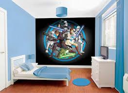 Star Wars Bedroom Theme Walltastic Starwars Wallpaper Mural Childrens Wallpaper Fun Decor