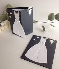 Groom To Bride Card Wedding Dress And Tuxedo Card For The Bride And Groom Wedding