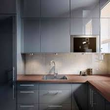 Glossy Kitchen Cabinets Faktum Kitchen With Abstrakt Grey High Gloss Doors Drawers And
